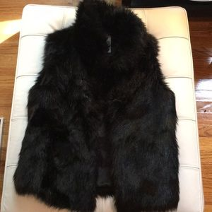 BB Dakota black Faux Fur Vest